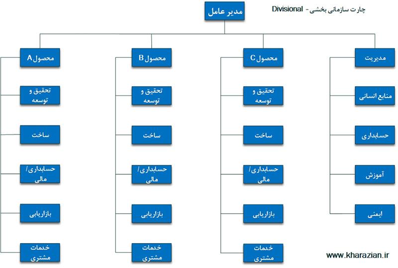 ساختار سازمانی بخشی